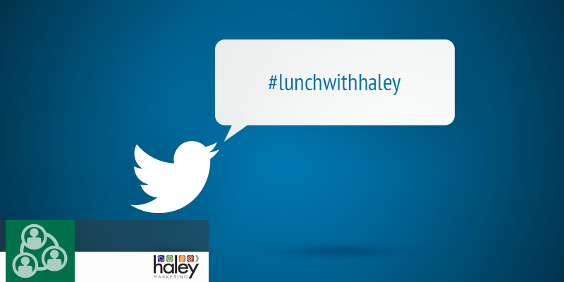 Why do we Live-Tweet our Lunch With Haley Webinars?